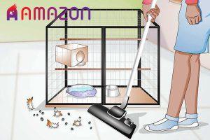 طرز صحیح نظافت قفس